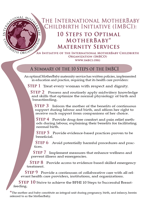 10 Steps to Optimal MotherBaby Maternity Services | IMBCI